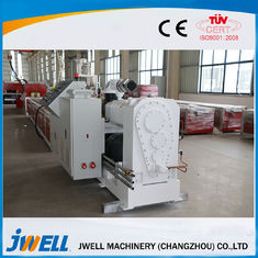 China PVC WPC Plastic Profile Extrusion Line , Twin Screw Extruder Machine Popular Door Cover factory