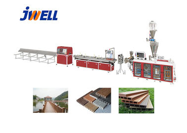 Jwell PE WPC Plastic Recycling Floor Product Many Times Using Plastic Extruder Machine