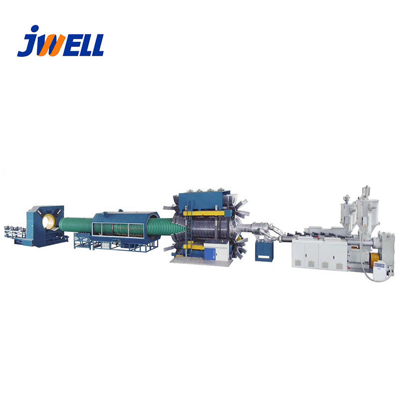 Conduit Pipe Extrusion Line , Plastic Pipe Manufacturing Machine Wall Corrugated supplier