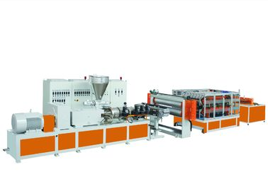 PVC / PC Plastic Profile Extrusion Line Multi Layer Corrugated Roof Tile Heat Insulation
